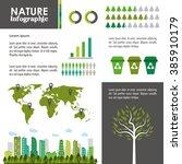 ecology infographic design  | Shutterstock .eps vector #385910179