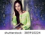 woman's face  magic of figures  ... | Shutterstock . vector #385910224