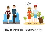 people business and beach... | Shutterstock .eps vector #385914499