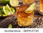 dark and stormy rum cocktail... | Shutterstock . vector #385915735