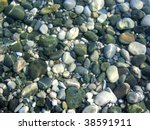Pebbles Under Water Background