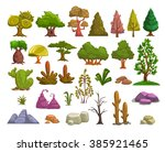 cartoon nature landscape... | Shutterstock .eps vector #385921465