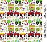 seamless  tileable farming or... | Shutterstock .eps vector #385923271