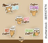 coffee cup character | Shutterstock .eps vector #385937974