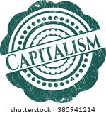 capitalism rubber seal with... | Shutterstock .eps vector #385941214