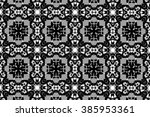 ornament with elements of black ... | Shutterstock . vector #385953361