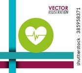 fitness icon design  | Shutterstock .eps vector #385958371