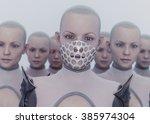 futuristic clones | Shutterstock . vector #385974304