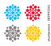 Digital Colorful Logos Set....