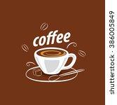 vector logo for coffee  hot... | Shutterstock .eps vector #386005849