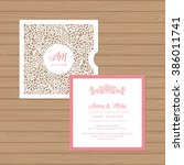 wedding invitation or greeting... | Shutterstock .eps vector #386011741