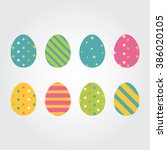 Easter Eggs. Vector...