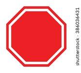 stop vector sign  | Shutterstock .eps vector #386036431