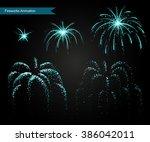 vector effect. effect for game. ...   Shutterstock .eps vector #386042011