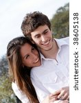 close up of a young couple in... | Shutterstock . vector #38605138