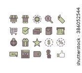 thin lines icons set.e commerce ...   Shutterstock .eps vector #386052544