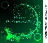 happy st.patrick s day green...   Shutterstock . vector #386061649