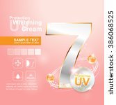 protection uv and whitening... | Shutterstock .eps vector #386068525