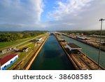 panama canal | Shutterstock . vector #38608585