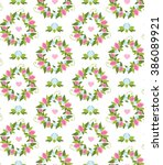 seamless floral pattern.... | Shutterstock .eps vector #386089921