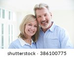 portrait of loving mature... | Shutterstock . vector #386100775