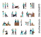 volunteers people set | Shutterstock . vector #386106895