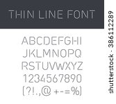font thin lines with isolated ... | Shutterstock .eps vector #386112289