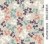 elegant endless pattern with... | Shutterstock .eps vector #386118814