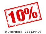 10  off red stamp text on white ... | Shutterstock . vector #386124409