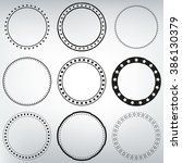 9 round decorative frames | Shutterstock .eps vector #386130379