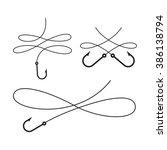 clip art black book on white... | Shutterstock .eps vector #386138794