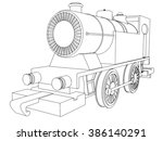 retro train vintage  symbol... | Shutterstock . vector #386140291