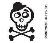 skull in hat and crossbones...   Shutterstock .eps vector #386147734