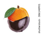 apricot in hot chocolate  | Shutterstock . vector #386148901