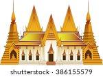 temple in thailand vector | Shutterstock .eps vector #386155579