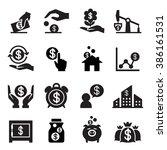 saving money icon | Shutterstock .eps vector #386161531