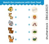 matching game for children ... | Shutterstock .eps vector #386163025