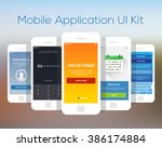 mobile application ui kit...