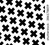 x sign pattern  black cross...   Shutterstock .eps vector #386178859