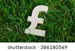 pound sign of wood isolated on... | Shutterstock . vector #386180569