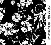 seamless vector floral... | Shutterstock .eps vector #38618659