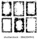 grunge frame vector set | Shutterstock .eps vector #386204941