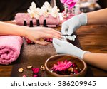 Closeup Finger Nail Care By...