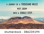 a journey of a thousand miles... | Shutterstock . vector #386234194