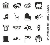 theater icons | Shutterstock .eps vector #386242201