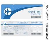 plane ticket design. blank... | Shutterstock .eps vector #386243737