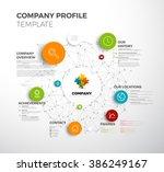 vector company infographic... | Shutterstock .eps vector #386249167