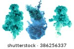 acrylic colors and ink in water.... | Shutterstock . vector #386256337