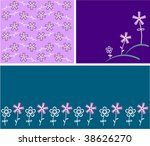 collection funny floral... | Shutterstock .eps vector #38626270