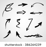 hand drawn arrows  vector set    Shutterstock .eps vector #386264239